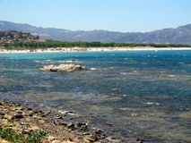 Kerstman Lucia Seaside! Sardegna Stock Fotografie