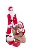 Kerstman met aanwezige verrassing Royalty-vrije Stock Fotografie