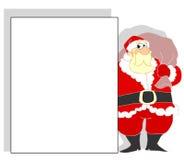 Kerstman met banner Royalty-vrije Stock Fotografie