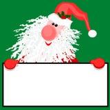 Kerstman met een Teken Stock Foto