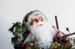 Kerstman met glazen Royalty-vrije Stock Foto's