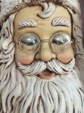 Kerstman met glazen Stock Fotografie