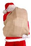 Kerstman met grote zak Royalty-vrije Stock Foto's