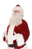 Kerstman met handen op buik Royalty-vrije Stock Afbeelding