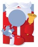 Kerstman met het spreken van vogel Royalty-vrije Stock Afbeelding