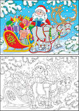 Kerstman met Kerstmisgiften royalty-vrije illustratie