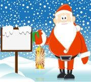 Kerstman met lamp Royalty-vrije Stock Afbeelding