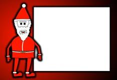 Kerstman met Leeg Teken Stock Foto's