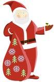 Kerstman met slang Stock Afbeeldingen