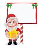 Kerstman met Teken Royalty-vrije Stock Fotografie
