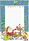 Kerstman met wishlist - Illustratie Royalty-vrije Stock Foto