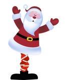 Kerstman met zijn korte broek in een knoop royalty-vrije illustratie