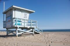 Kerstman Monica Beach, Ca Royalty-vrije Stock Afbeeldingen