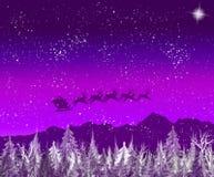Kerstman op de manier Stock Afbeelding