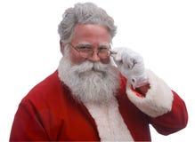 Kerstman op Wit royalty-vrije stock afbeelding