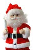 Kerstman over Wit Stock Afbeelding