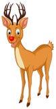 Kerstman Rudolph Reindeer royalty-vrije illustratie