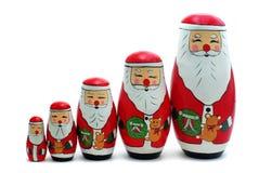Kerstman Rus die de nestelt Royalty-vrije Stock Foto's
