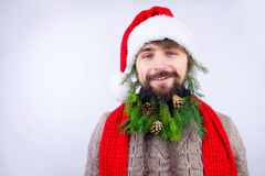 Kerstman` s verfraaide baard Royalty-vrije Stock Afbeelding