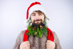 Kerstman` s verfraaide baard Royalty-vrije Stock Foto's