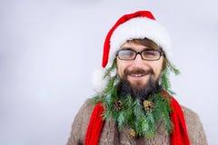 Kerstman` s verfraaide baard Royalty-vrije Stock Fotografie