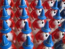 Kerstman` s Workshop in Duitsland met Geschilderd Houten Speelgoed royalty-vrije stock afbeelding