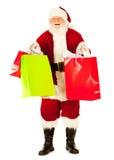 Kerstman: Santa Excited To Do Christmas-het Winkelen Royalty-vrije Stock Fotografie