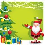 Kerstmanachtergrond - Illustratie Stock Foto's