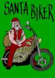 Kerstmanfietser Royalty-vrije Stock Foto