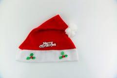 Kerstmanhoed Royalty-vrije Stock Afbeeldingen