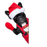 Kerstmanhond Stock Foto's