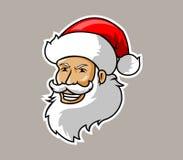 Kerstmanhoofd Royalty-vrije Stock Afbeeldingen