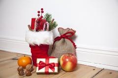 Kerstmanlaarzen St Nikolaus Stock Afbeelding