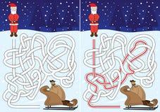 Kerstmanlabyrint Royalty-vrije Stock Fotografie