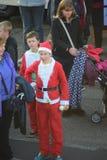 Kerstmanlooppas Royalty-vrije Stock Afbeeldingen