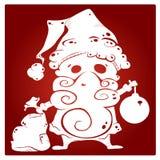 Kerstmansilhouet Royalty-vrije Stock Afbeeldingen