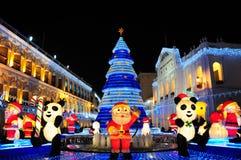 Kerstmis 2010 in Macao Stock Fotografie