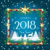 2018 KERSTMIS stock illustratie