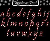Kerstmis abc van kleine letters Stock Afbeeldingen
