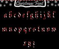 Kerstmis abc van kleine letters Stock Foto