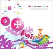 Kerstmis abstracte _5 Royalty-vrije Stock Foto