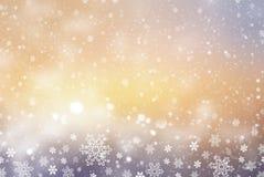 Kerstmis Abstracte Achtergrond met Sneeuwvlok Stock Foto