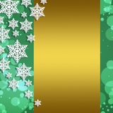 Kerstmis abstracte achtergrond met sneeuwvlokken Royalty-vrije Stock Afbeeldingen
