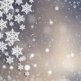 Kerstmis abstracte achtergrond met sneeuwvlokken Royalty-vrije Stock Afbeelding