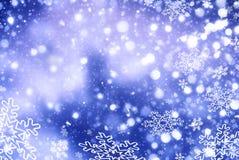 Kerstmis abstracte achtergrond met sneeuwvlokken Stock Afbeelding
