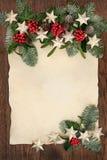 Kerstmis Abstracte Grens Als achtergrond Stock Foto