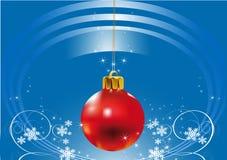 Kerstmis-achtergrond rood Stock Afbeeldingen