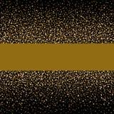 Kerstmis achtergrondconceptontwerp van goud gitter en glanzend Stock Afbeelding