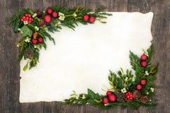 Kerstmis Achtergrondgrens Royalty-vrije Stock Foto's