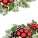Kerstmis Achtergrondgrens stock foto's